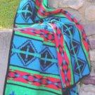 Southwestern Las Cruces BLUE TWIN Fleece Blanket CB2135
