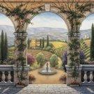 C828 Tuscan Villa European Landscape Wall Mural 13 x 8