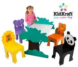 KidKraft Jungle Table and Chair Set