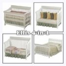 Simplicity Ellis 4 In 1 Crib-White