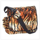 Tiger Print Messenger Bag