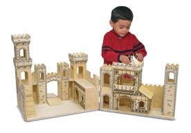 Melissa & Doug Folding Medieval Castle Pretend Play