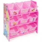 Delta Disney Princess 9 Bin Toy Organizer Storage