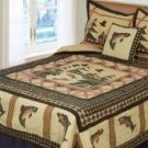 Fishing Place Twin Quilt with Pillow Sham