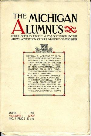 The Michigan Alumnus (June 1919)