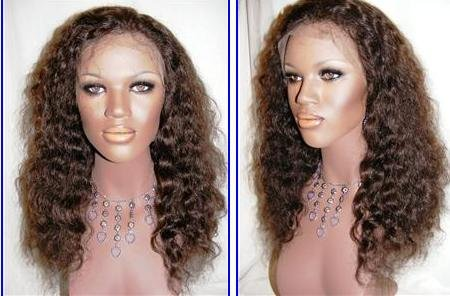 Custom order Remy Indian Hair Full Lace Wig 22""