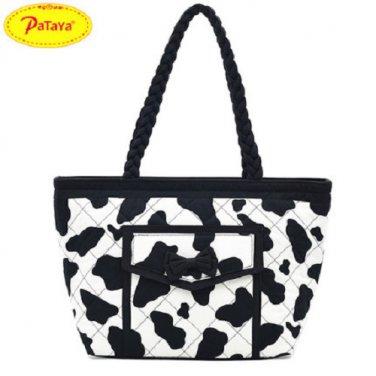 NWT Pataya Fashion Thai Cotton Bowknot bucket bag Tote bag Long Handle Medium
