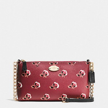 NWT COACH QUINN BRAMBLE ROSE PRINT COATED CANVAS CROSSBODY BAG F35882 MSRP $175