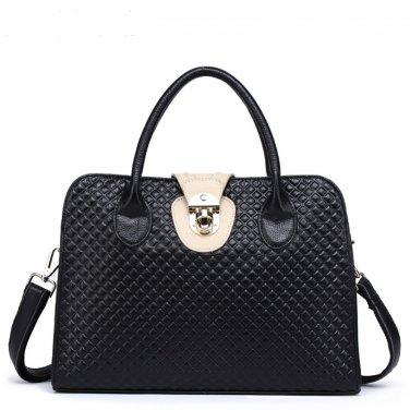 Genuine Real Leather Crossbody Bag Tote Handbag Quilted Embossing Shoulder Bag