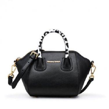NWT Marino Orlandi Black Leather Small Shoulder Crossbody Handbag