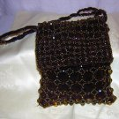 Jeanne Lottie beaded velvet evening bag shoulder strap Madeira ll1552