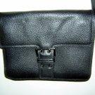 Francesco Biasia black leather shoulder bag purse Italy ll1604