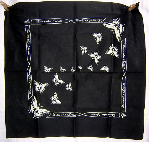 Untie the spirit butterflies scarf bandana kerchief