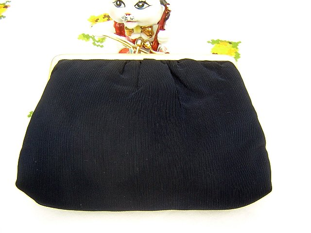 Nicely navy Du-Val evening bag simple elegance vintage ll1545