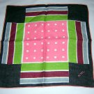 Vintage hand sewn modern art hanky  pocket puff ll1667