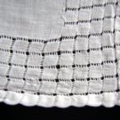 Vintage linen wedding hanky lavish threadwork ll1665