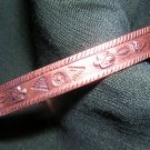 Solid copper cuff bracelet native Amer motif vintage small ll1826