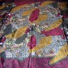 Jewel tone silk scarf design a la Klimt unused ll1792