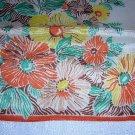 Vintage silk hanky pocket puff stylized flowers lovely ll1702