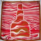 Canova silk scarf Grand Marnier bottle made France large mint ll1780