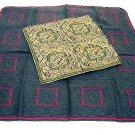 2 Renoir silk scarves or pocket puffs 1 pattern 2 color schemes unused ll1703