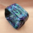Handmade painted draped fabric mache bangle bracelet ll1920
