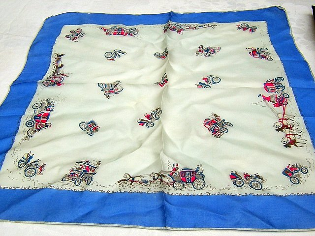 Collector scarf carriages & horseless carriages vintage ll1781