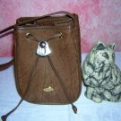 Gazzel Kangaroo pouch purse brown handbag made in Australia ll1573
