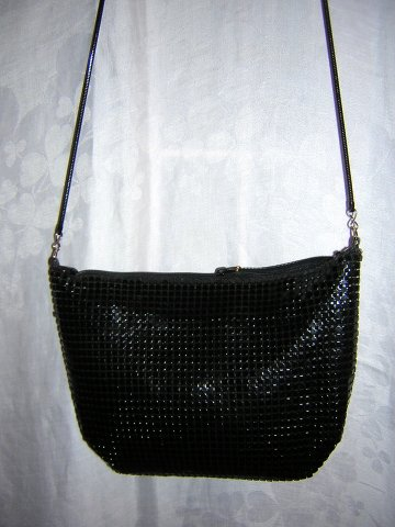 Slinky black aluminum mesh evening bag snake chain Rafy ll1535