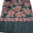 Unisex vintage silk paisley coat scarf double faced unused ll1700