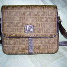 Lucie Saint Claire Paris signature bag purse light brown LSC vintage ll1562