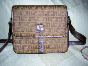 Lucie Saint Claire Paris signature bag purse light brown LSC vintage ll1562