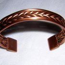 Solid copper cuff bracelet braids and straight bands vintage ll1915