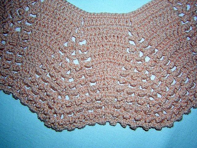 Dressmaker sweet Peter Pan style collar hand crocheted ll1482