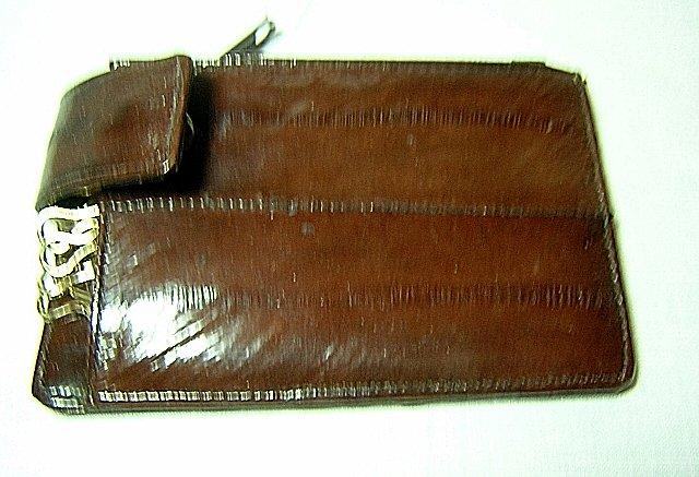 Eelskin keycase with change purse unused BarDa ll1898
