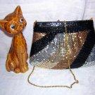 Marlo 4 color metallic mesh evening bag never used vintage ll1525