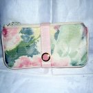 Maggie B travel lingerie or jewelry case soft floral expandable ll2073
