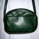 Tignanello leather shoulder bag adjustable strap hunter green unused ll1503