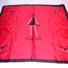 Shopping Girl fun red silk scarf Helen Walsh Group ll1712