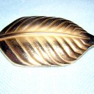 Bond Boyd Canada gold plate leaf brooch pin perfect vintage ll1942