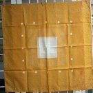 Karin white polka dots on marigold synthetic scarf vintage ll1096