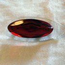 Mod lucite plastic pin brooch clear and berry red vintage ll1271