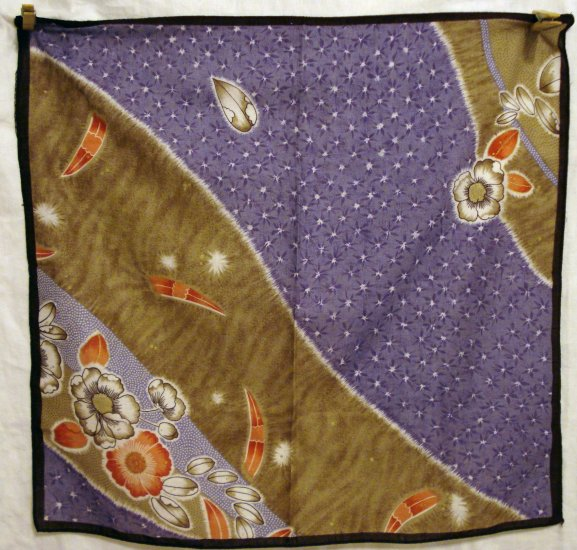 Cotton hanky or kerchief bandanna Japanese prints vintage ll1322