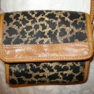 Anne Klein II animal print shoulder bag purse leopard casual small vintage ll1350