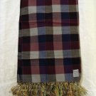 Huntleigh Heathers wool scarf by Currie silk fringe vintage ll1353