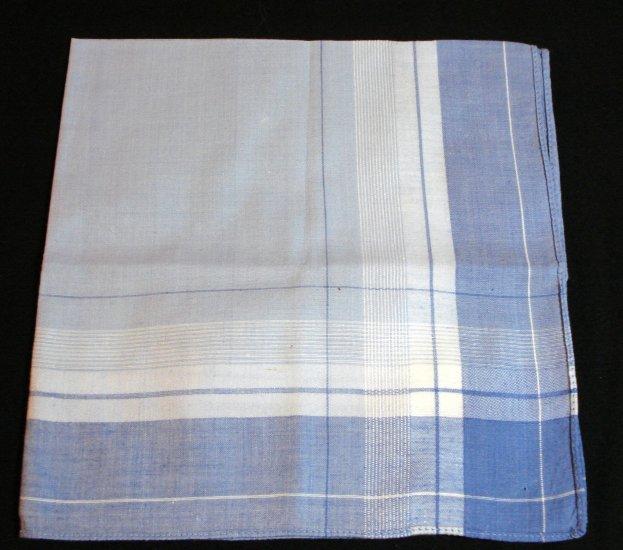 2 Men's cotton hankerchiefs unused vintage brown and blue ll1420