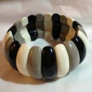Plastic stretch bangle classic neutrals mid century vintage  ll1324