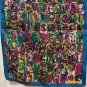 Elaine Gold Collection XIIX long silk scarf jewel tones unused vintage ll1357
