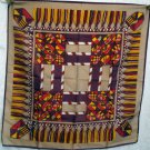 Modern medieval design synthetic scarf vintage unused ll1439
