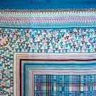 Meunier large silk scarf vintage optical illusion art design turquoise dots ll1677